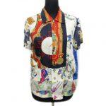 トリココムデギャルソン tricot COMME des GARCONS シルク100% 再構築スカーフ シャツ を買い取りさせて頂きました♪