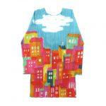 美品 プリーツプリーズ PLEATS PLEASE イッセイミヤケ プリーツ加工 総柄 七分袖 Tシャツ¥5,300-で買い取りました。※当社規定Aランク商品