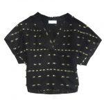未使用品 17AW マメクロゴウチ  Mame Kurogouchi SARASA JAQUARD TOPS サラサ ジャガード織 シルク混 半袖 ブラウス ¥8,000-で買い取りました。※当社規定Sランク商品
