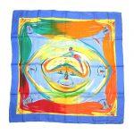 エルメス HERMES 美品 カレ 90 三千年紀の微笑 Smiles in Third millenary シルク 大判 スカーフ を買い取りさせて頂きました♪