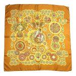 エルメス HERMES 美品 カレ 90 LE ROY SOLEIL 太陽王 大判 シルク スカーフ を買い取りさせて頂きました♪