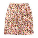 未使用品 90s コムデギャルソン COMME des GARCONS へリンボーンウール 総柄 マルチ ペイント ミニ スカートを買い取りさせて頂きました♪