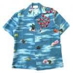17SS グッチ GUCCI Snake Embroidered Silk Hawaiian / Bowling Shirt シャツ¥25,000-で買い取りました♪ ※当社規定ABランク商品