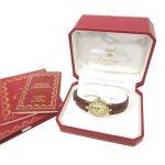 カルティエ Cartier マスト ヴァンドーム ヴェルメイユ 腕時計 クォーツ 純正レザーベルト シルバー925 59004 買い取りさせて頂きました♪