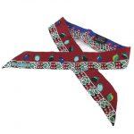エルメス HERMES 美品 ツイリー マハラジャの装身具 Parures des Maharajas リボン スカーフを買い取りさせて頂きました♪