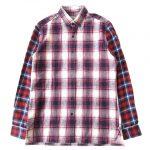 美品 ランバン LANVIN チェック 切替 BD ボタンダウン ネルシャツ を買い取りさせて頂きました♪