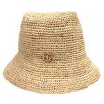 極美品 20SS グッチ GUCCI GGマーモント ダブルG ディテール ロゴ ラフィア ハット 帽子 バケット サファリ 553574 3HE44 サイズ M 57cm ベージュ レディース 買い取りさせて頂きました♪