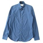 17SS マルタンマルジェラ Martin Margiela 10 メゾンマルジェラ Maison Margiela ドレス ビジネス シャツ カットソー 長袖 レギュラーカラー S30DL0356 S39545 サイズ39 紺 ネイビー メンズ 買い取りさせて頂きました♪