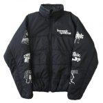美品 ヒステリックグラマー HYSTERIC GLAMOUR プリマロフト ガール ピストル ロゴ プリント 中綿 ジャケット ブルゾン 02173AB21 サイズM 黒 ブラック メンズ 買い取りさせて頂きました♪